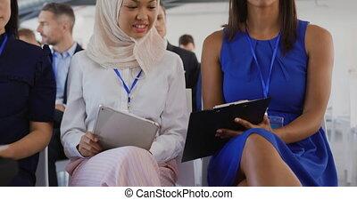 séminaire, business, écriture, femmes, audience