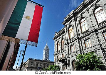 sénat, bâtiment, mexique