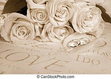 sépia, mariage