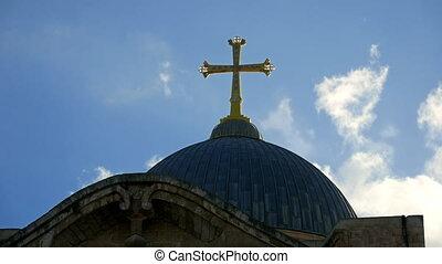 sépulcre, jérusalem, croix, saint, temple
