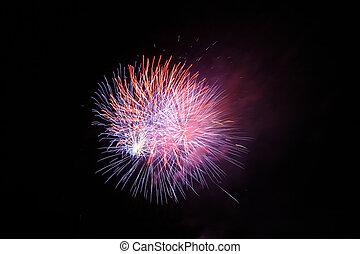série, 4 julho, fogos artifício