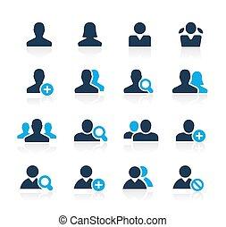 série, avatar, azur, //, icônes