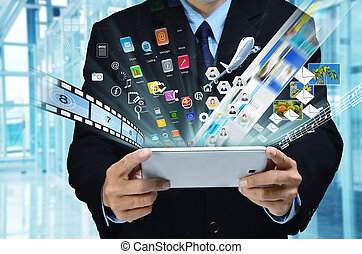 série, business, internet