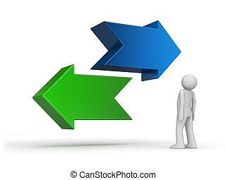 série, -, choix, choisir, manière, problème, ton