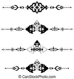 série, conception, t, motifs, ottoman