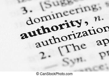 série, -, dictionnaire, autorité