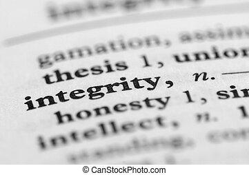 série, -, dictionnaire, intégrité