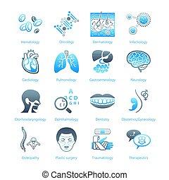 série, hôpital, marin, ||, icônes