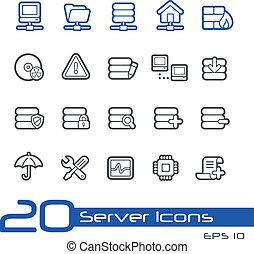 //, série, ligne, serveur, icônes