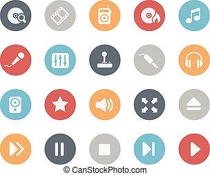 série, média, joueur, classiques, icônes