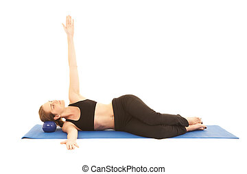 série, pilates, exercice