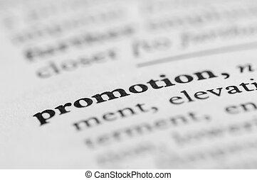 série, promotion, -, dictionnaire