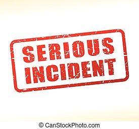 sérieux, incident, texte, buffered