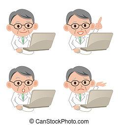 sérieux, informatique, docteur
