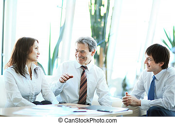 sérieux, réunion, Hommes affaires