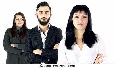 sérieux, trois, professionnels