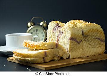 sésamo, taro, pão