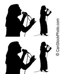 sênior, cantor, femininas