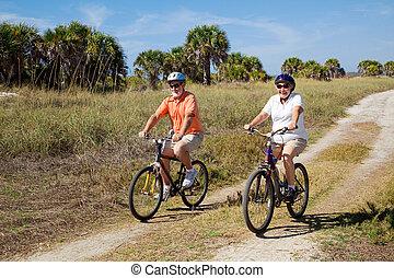 sênior, cofre, ciclistas