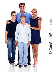sênior, mãe, e, dela, crianças adultas
