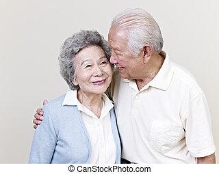 sênior, par asiático