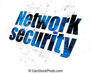 síť, soukromí, grafické pozadí, digitální, bezpečí, concept: