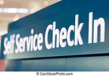 sí mismo, cheque, servicio