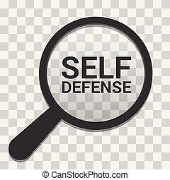sí mismo, vidrio, defensa, seguridad, palabras, óptico,...