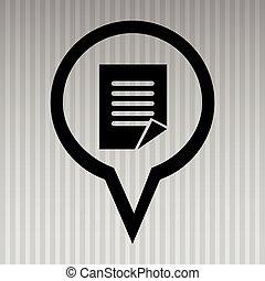 símbolo, ícone, desenho, isolado, papeis