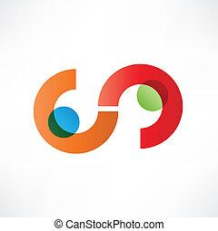 símbolo, ícone, handshake., partnerships.