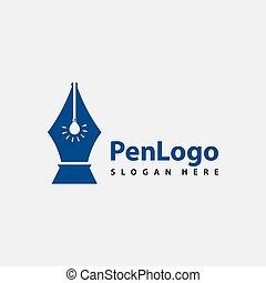 símbolo, ícone, ilustração, modelo, caneta, desenho, logotipo, vetorial