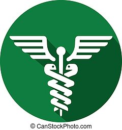 símbolo, ícone, médico, apartamento, caduceus
