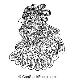 símbolo, año, -, 2017, gallo