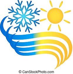símbolo, acondicionador de aire