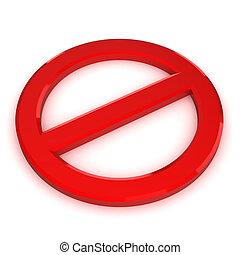 símbolo advertindo