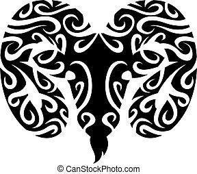 símbolo, aries