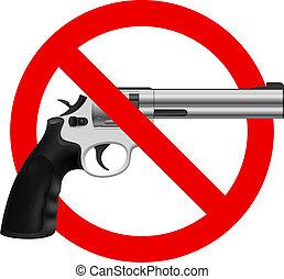símbolo, arma, não