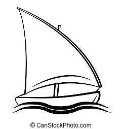 símbolo, barco