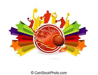 símbolo, basquetebol, desporto