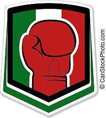 símbolo, boxe, mexicano, agradável