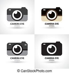 símbolo, câmera, olho, ícone