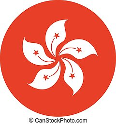 símbolo, círculo, hong kong