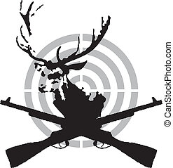 símbolo, caça, veado