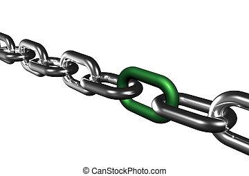 símbolo, cadena, vinculación, éxito, equipo