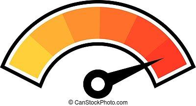 símbolo, caliente, temperatura