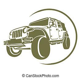 símbolo, camión