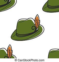 símbolo, capuz, austríaco, chapéu pena, robin, headdress