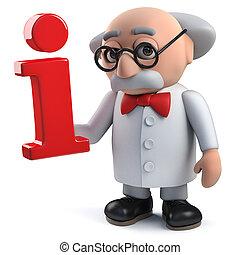 símbolo, carácter, tenencia, científico, información, ...