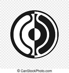 símbolo, cheondoism, aislado