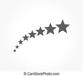 símbolo, cinco, estrelas
